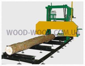 Ленточная пилорама, распиловка древесины